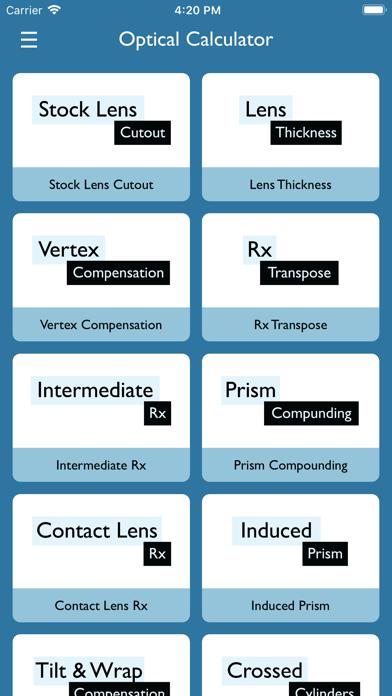 Optical Calculator screenshot one