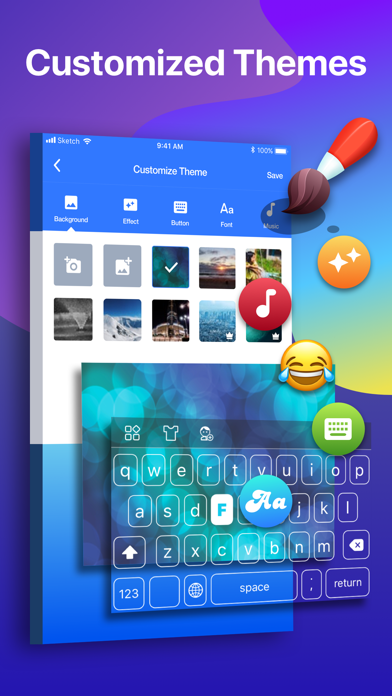 FUN Keyboard -Emoji & Themes Screenshot