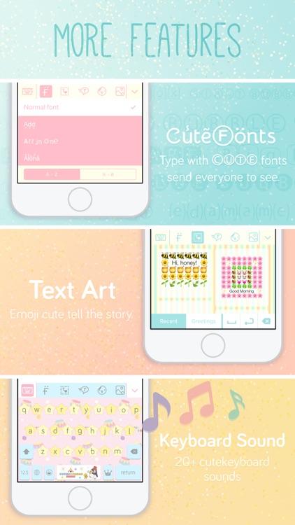 Pastel Keyboard Themes Color screenshot-5