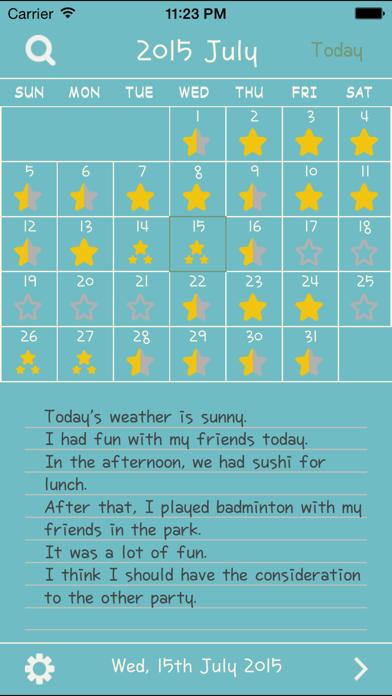 English Diary -英語日記- 英語 ダイアリーのおすすめ画像4