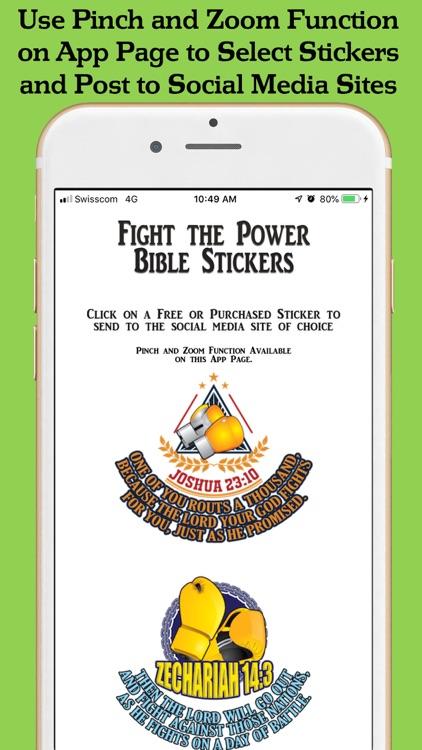 Fight the Power Bible Stickers screenshot-5