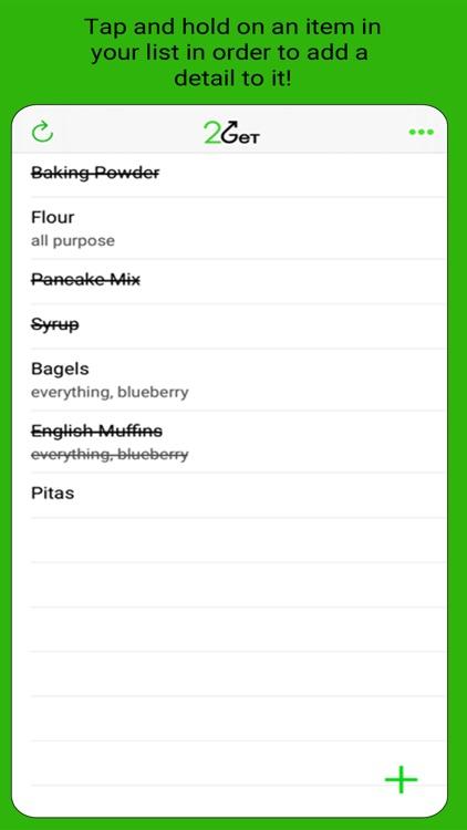 2Get - Grocery List screenshot-5