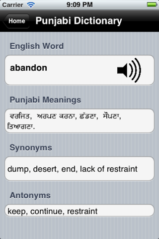 English To Punjabi - náhled