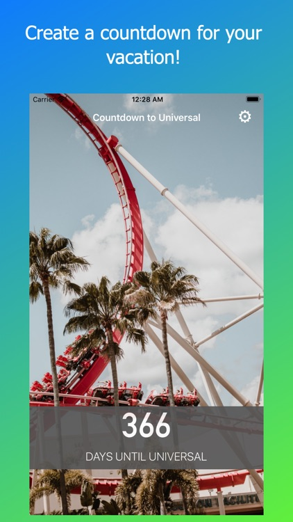 Countdown for Universal Park