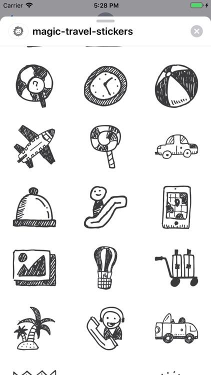 Magic Travel Stickers screenshot-4