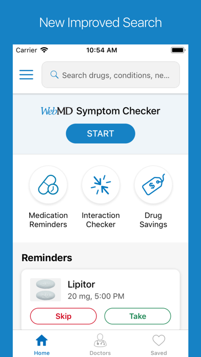 WebMD: Check Your Symptoms screenshot one
