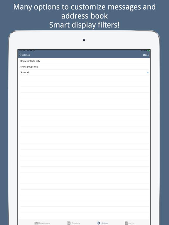 Easy Message - Group Bulk Text Screenshots