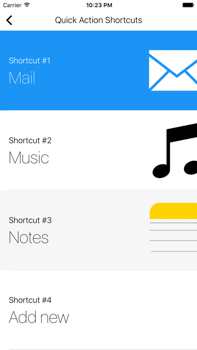 Shortcuts (Quick Open) screenshot three