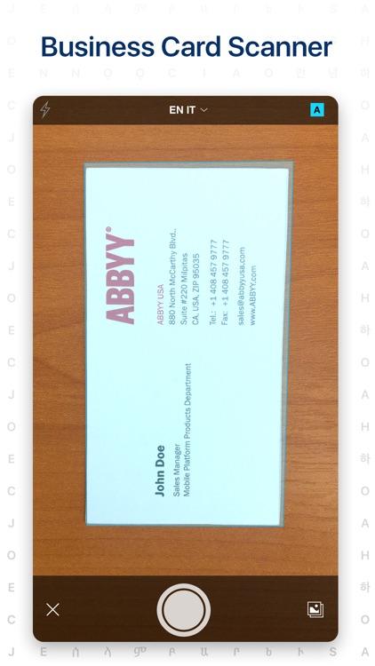 Business Card Reader screenshot-0