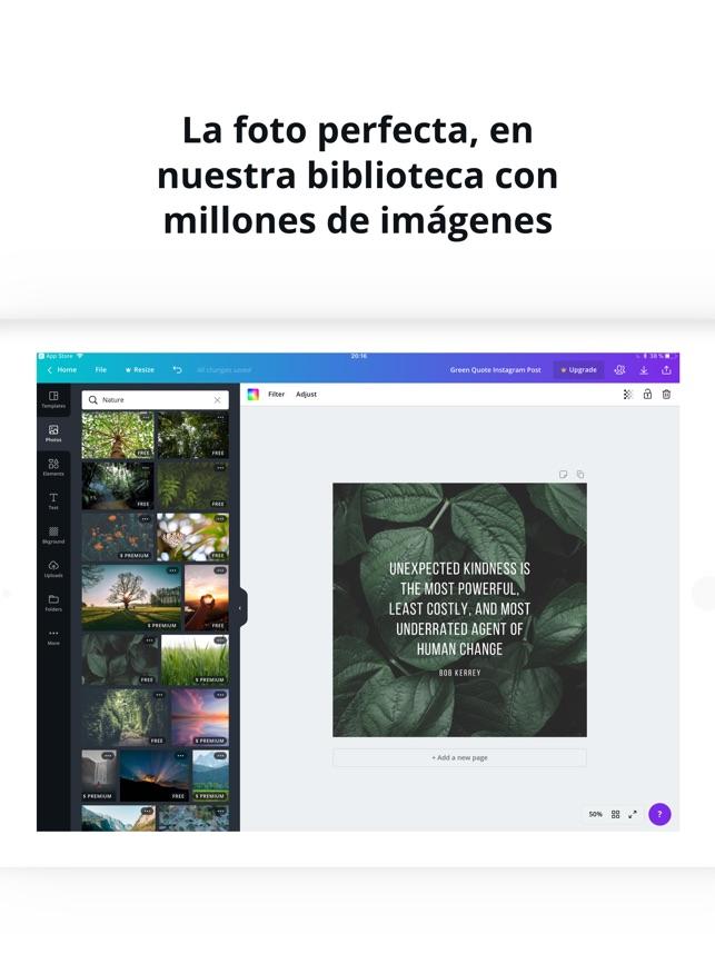 Canva Diseña Diseño Gráfico En App Store