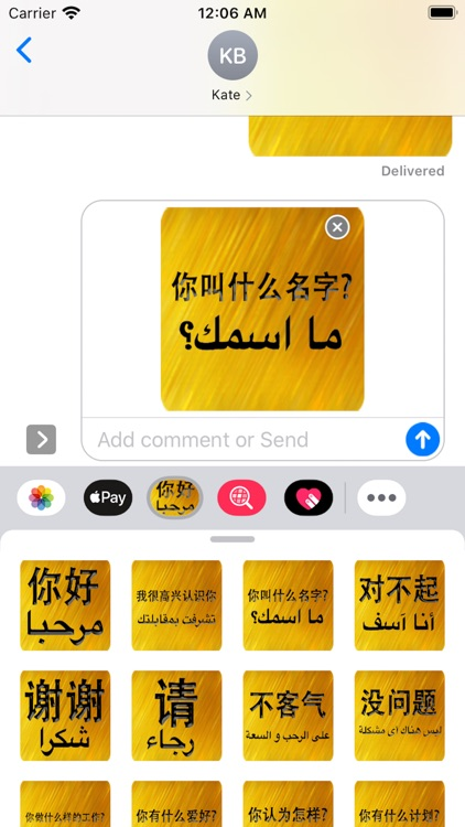 Chinese Arabic Sticker screenshot-4