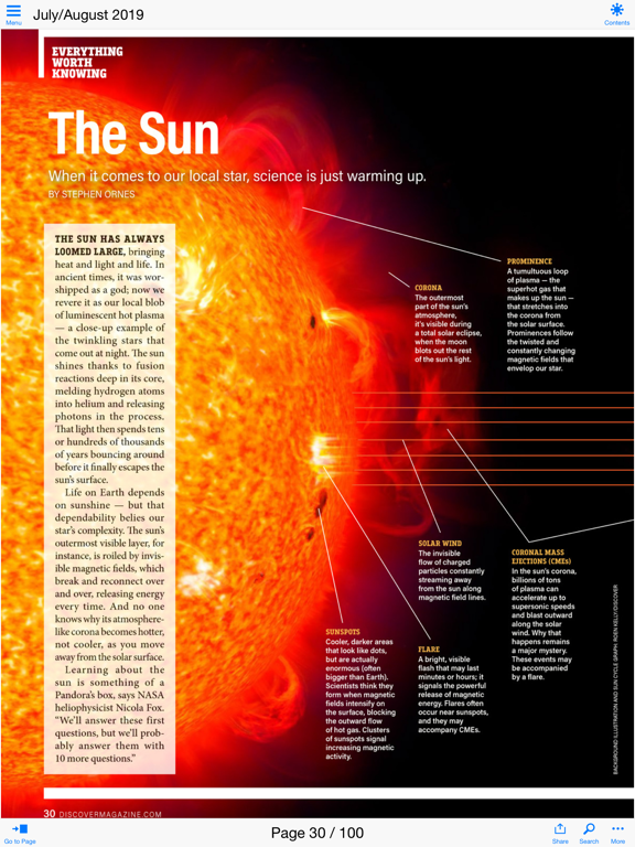 DISCOVER Magazine screenshot