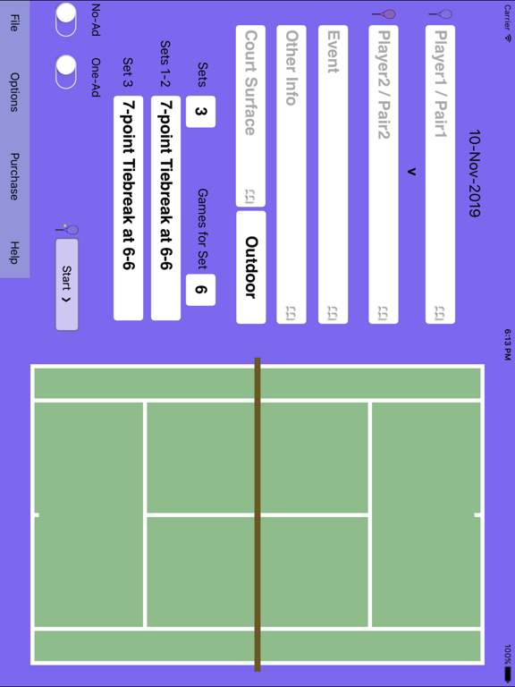 ProTracker Tennis. screenshot