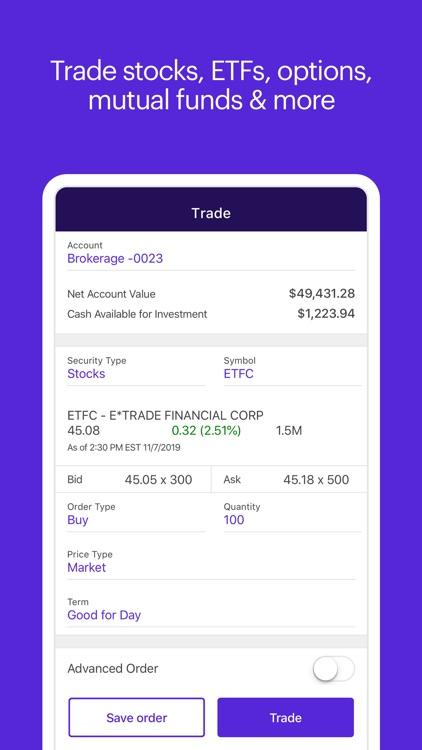 E*TRADE: Invest. Trade. Save. screenshot-3