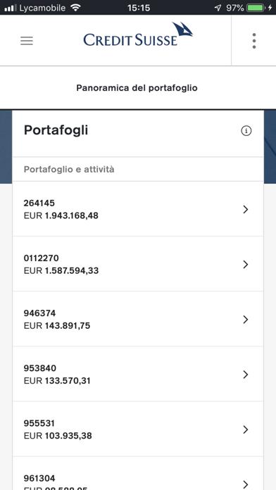 Screenshot of Credit Suisse Digital2