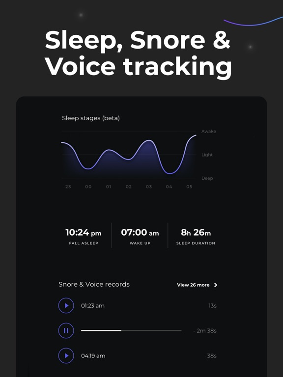 iPad Image of Sleep Booster: Sleep cycle app