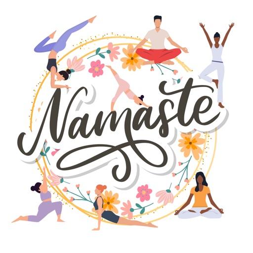 International Yoga Day Sticker