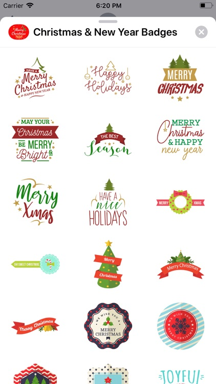 Christmas & New Year Badges screenshot-4