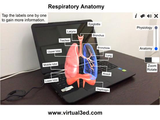 AR Respiratory system physiolo screenshot 9