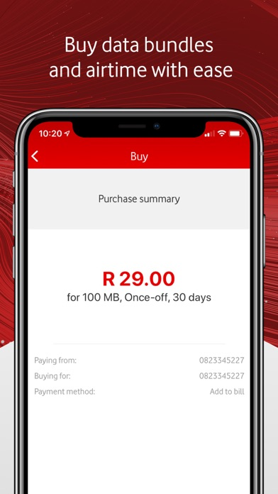 Screenshot for My Vodacom in South Africa App Store