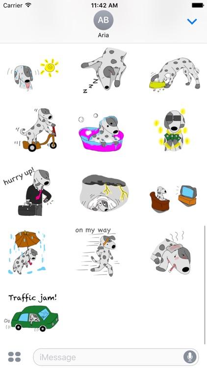 Brave Dalmatian Dog Sticker screenshot-3