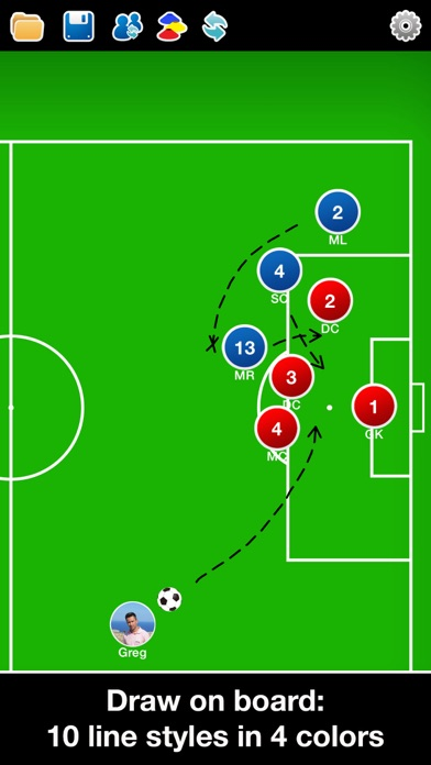 Screenshot for Coach Tactic Board: Soccer++ in United States App Store