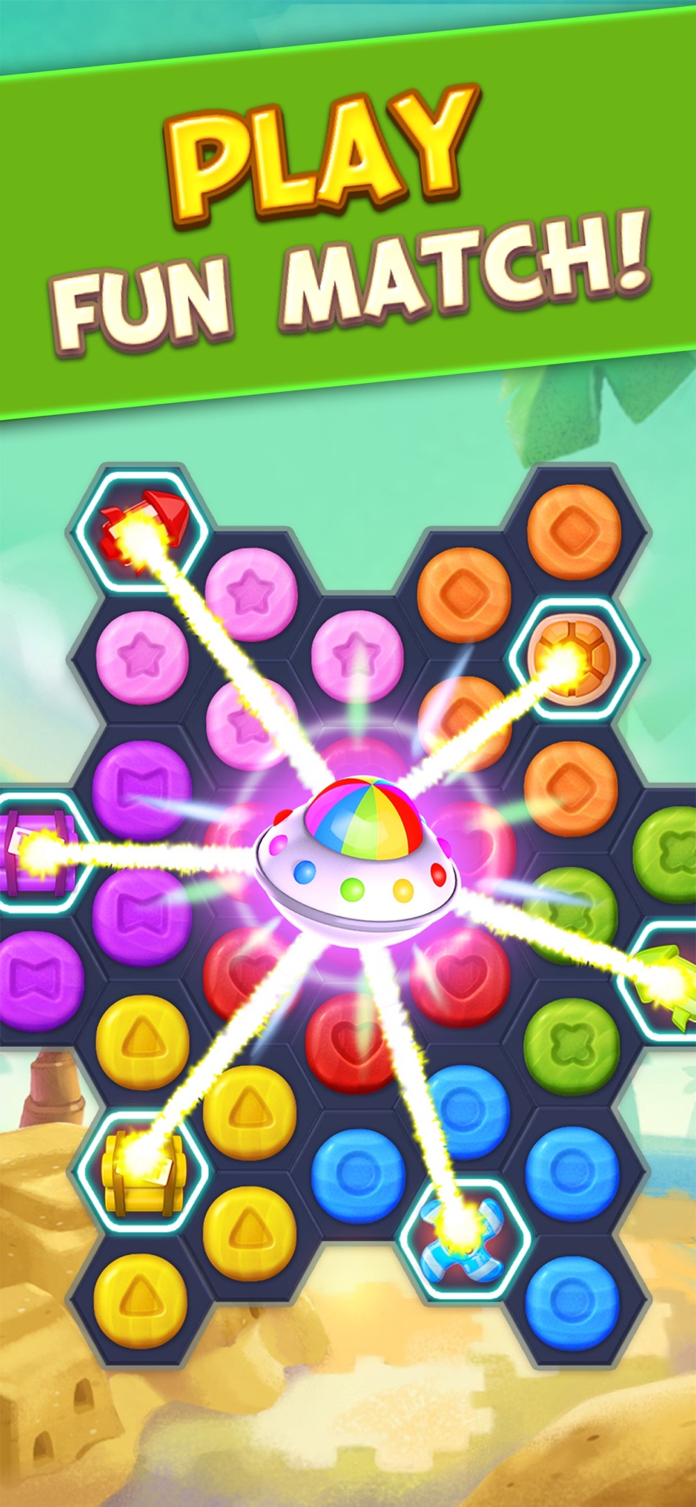 Toy Party: Match 3 Hexa Blast! hack tool