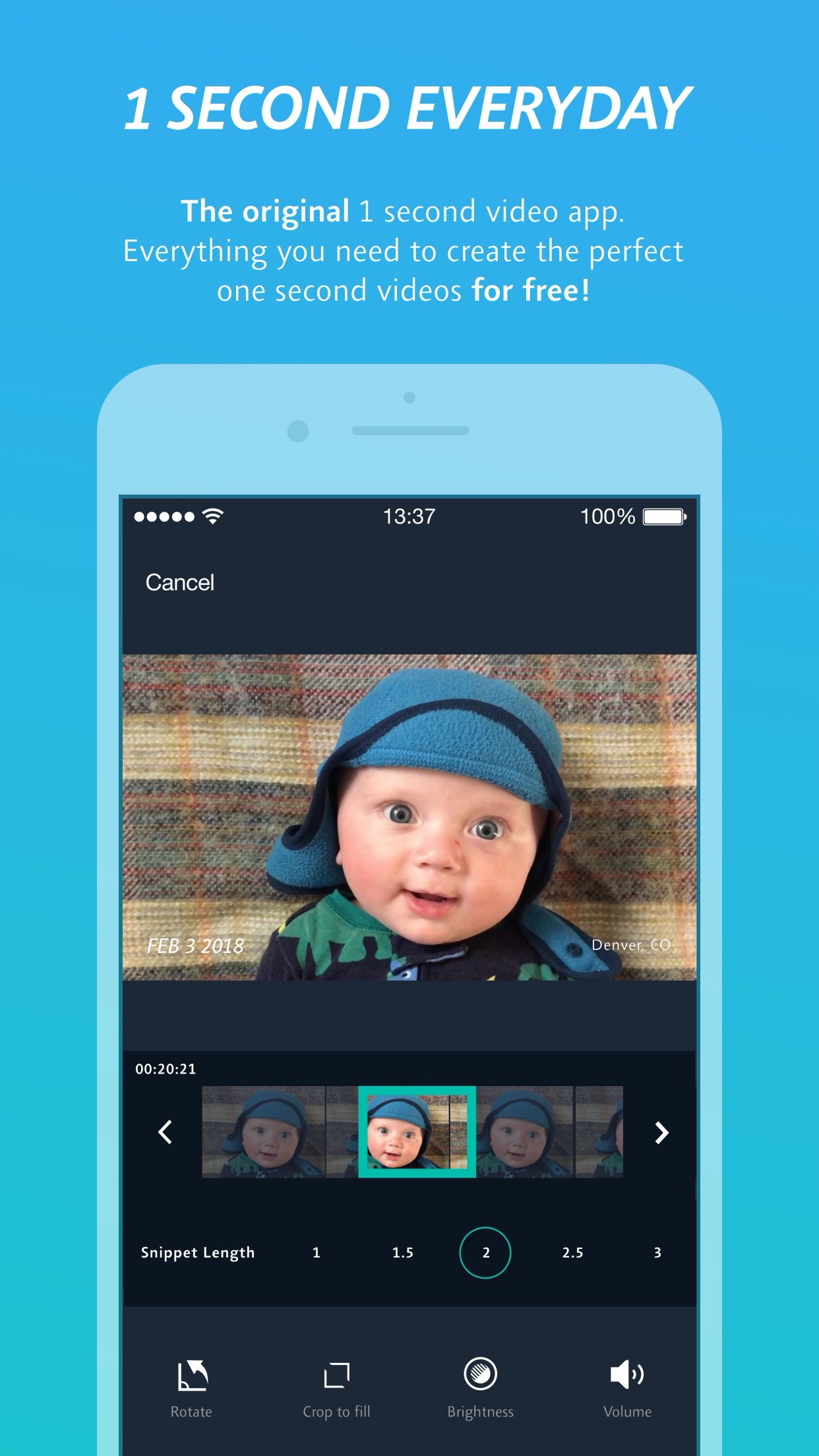 1 Second Everyday: 비디오 다이어리 Screenshot