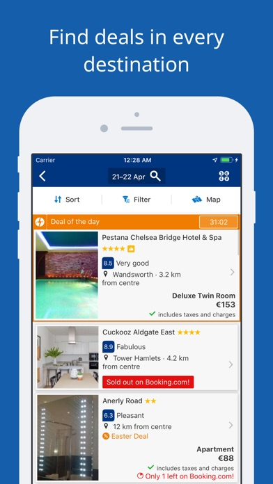 Screenshot for Booking.com Travel Deals in United Arab Emirates App Store