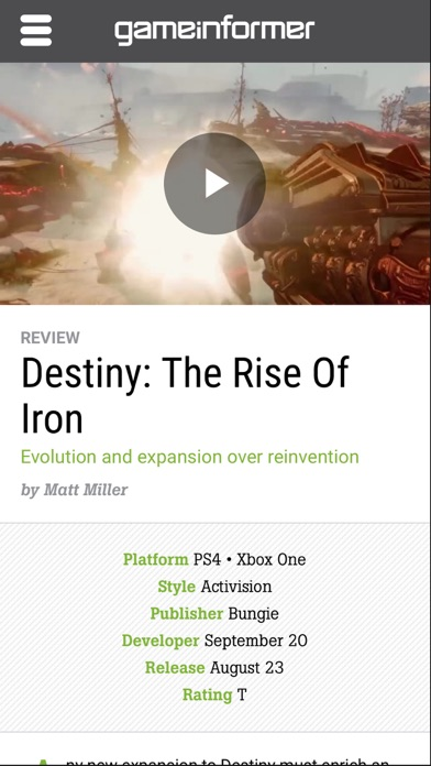 Screenshot for Game Informer in United States App Store