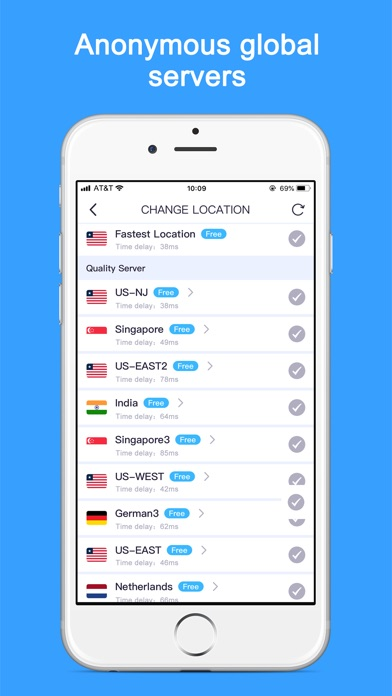 Screenshot for VPN - Super Unlimited Proxy in United States App Store