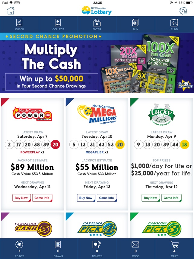 NC Lottery Official Mobile App on the App Store