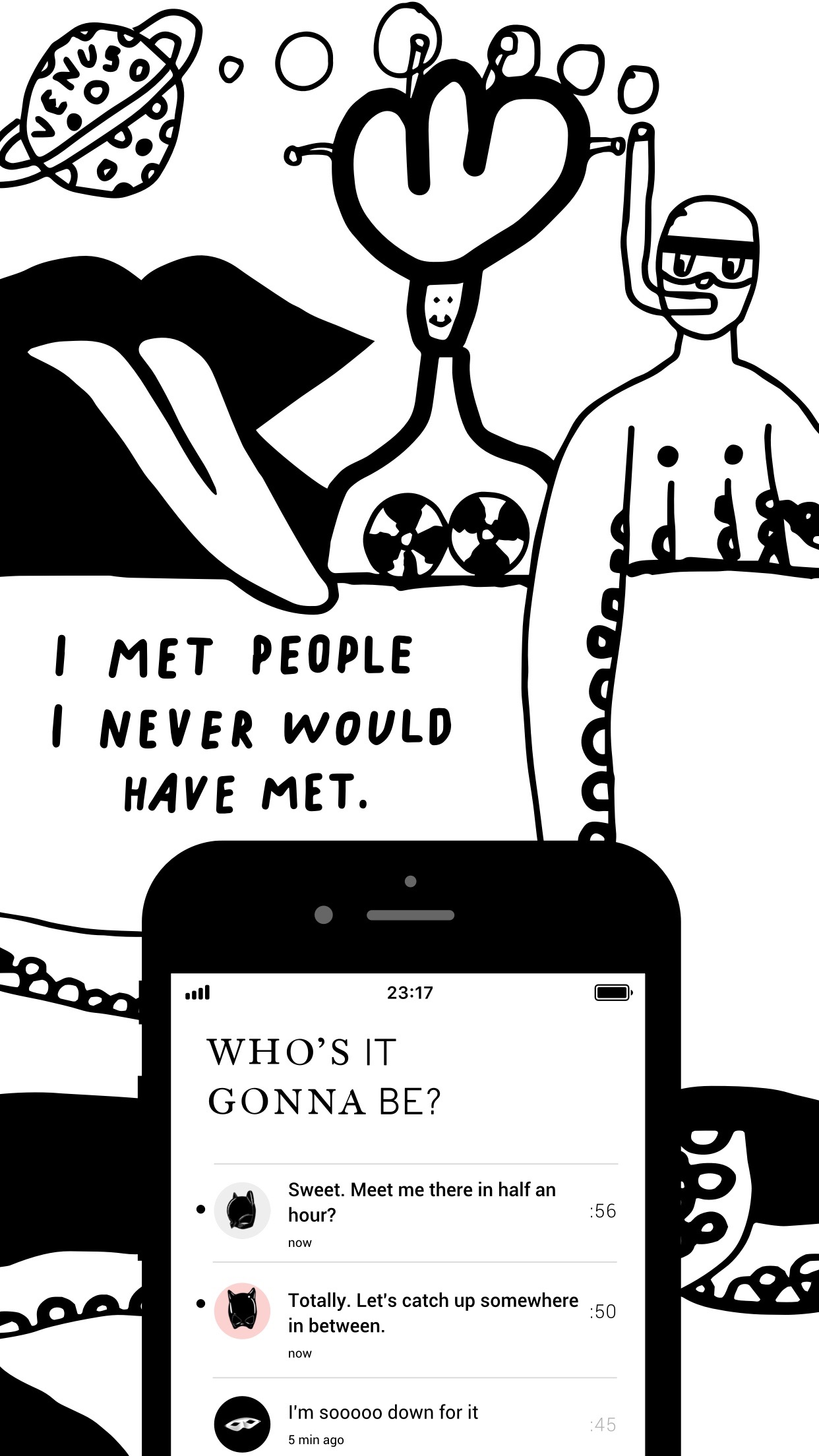 Pure anonymous hookup chat 18+ Screenshot
