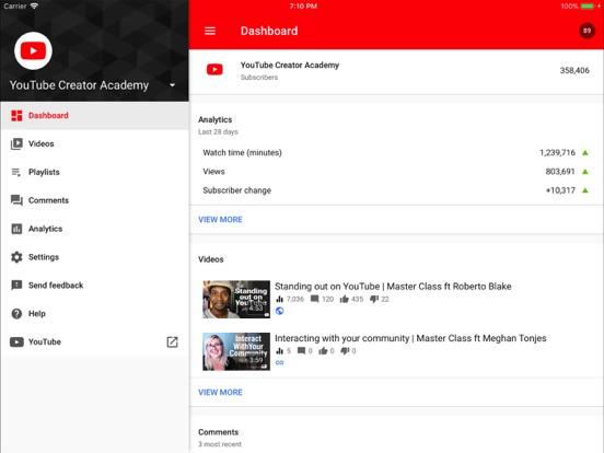YouTube Studio-ipad-0