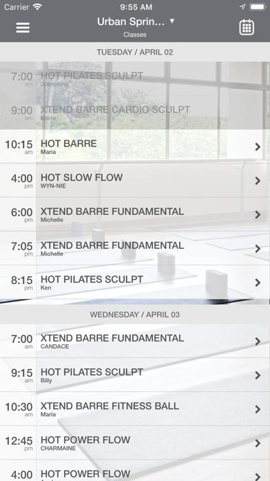 Urban Spring Pilates screenshot three