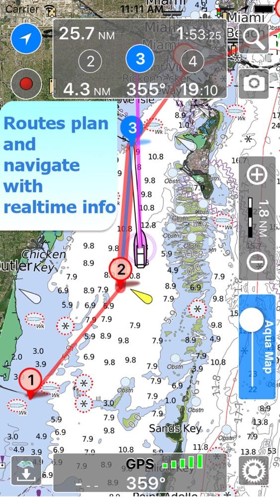 Aqua Map Marine & Lakes GPS App for iPhone - Free Download Aqua Map