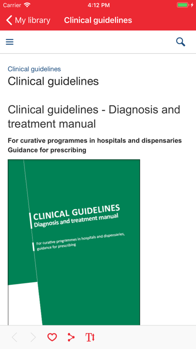 MSF Medical Guidelines screenshot two