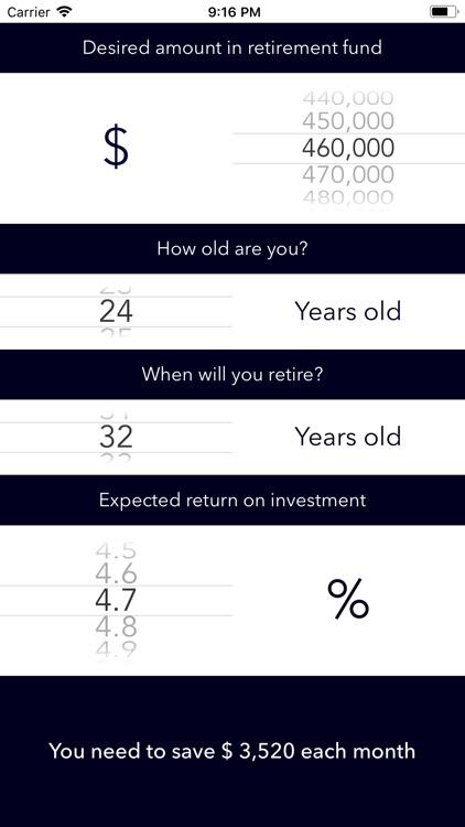 Retirement Planner +