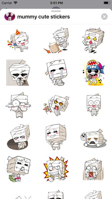 Mummy Cute Halloween stickers - 窓用