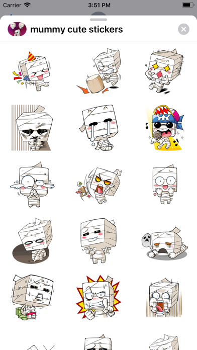Mummy Cute Halloween stickers - 窓用