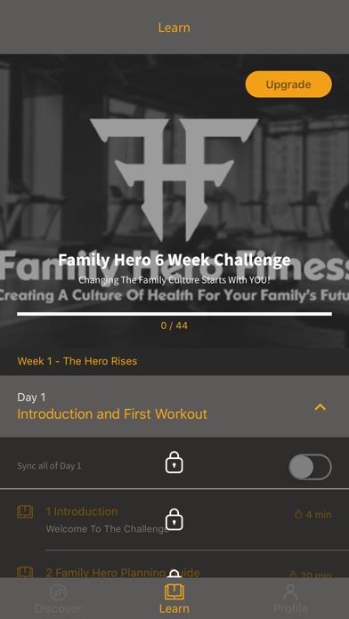 Family Hero Fitness screenshot 1