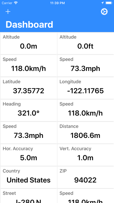 Screenshot #1 pour Pacific GPS Location Dashboard