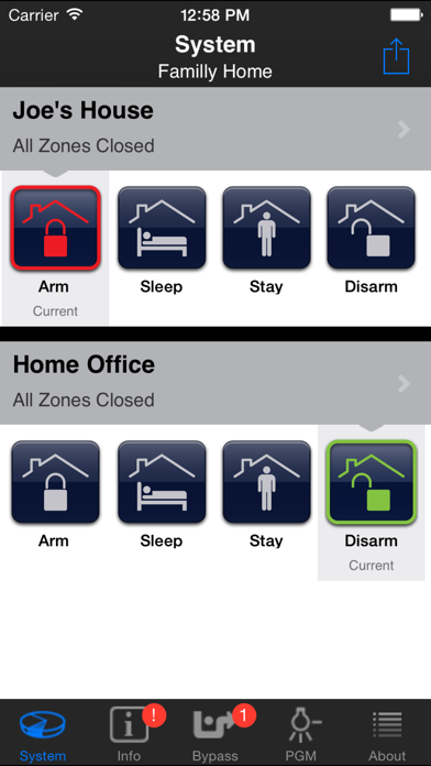 Screenshot for iParadox–Alarm System Control in South Africa App Store
