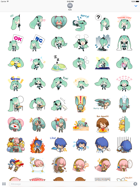 Happy Miku And Gang HD Sticker screenshot 8