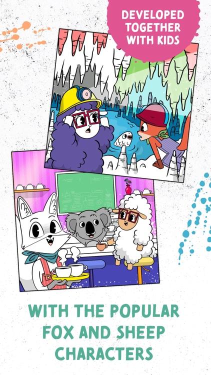 Coloring Fun with Fox & Sheep screenshot-4