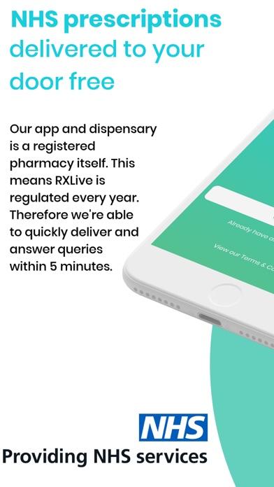 RXLive - NHS prescriptions screenshot one