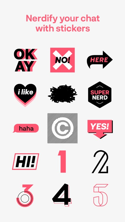 Typography Nerd Sticker screenshot-2