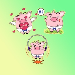 Cute Happy Pig Stickers
