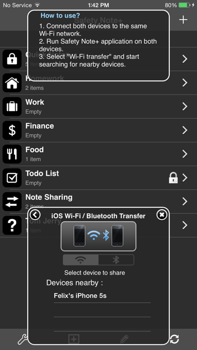 Screenshot #2 pour Safety Note+ Lite