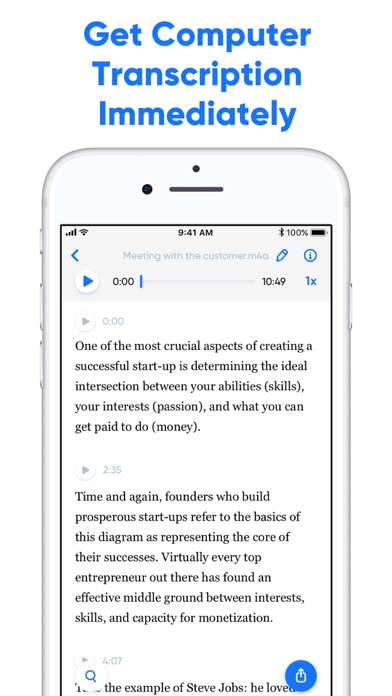 Transcribe - Speech to Text screenshot two